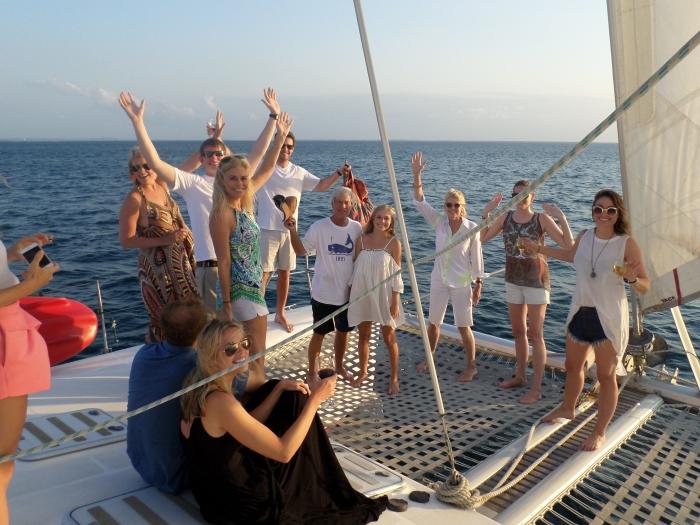 A wedding honeymoon celebration cruise in Nungwi, Zanzibar