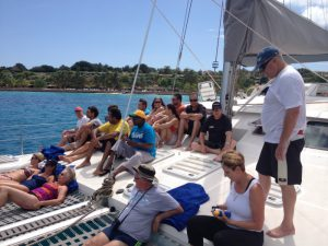 A group of Zanzibar Corporate Events guests onboard