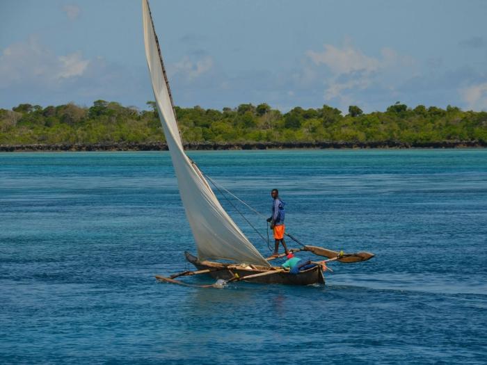 Sailing Zanzibar on an Ingalawa in Pemba Island, Tanzania.