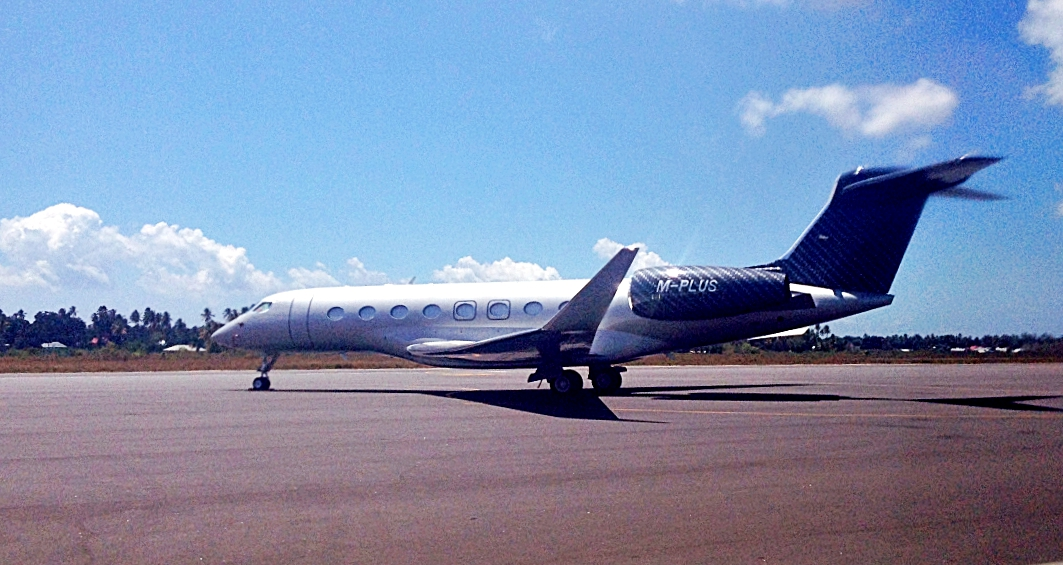 Airport transfers from private Jet at Zanzibar International Airport.
