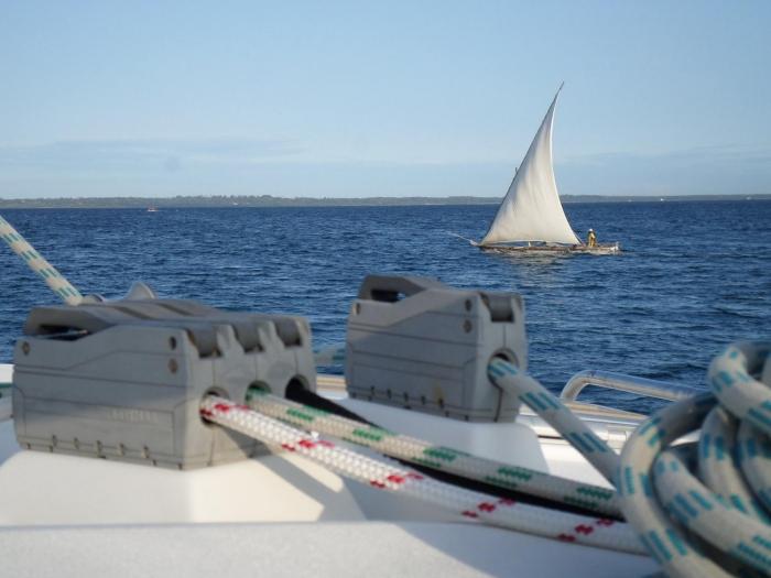 Sailing Zanzibar on a local Ingalawa.
