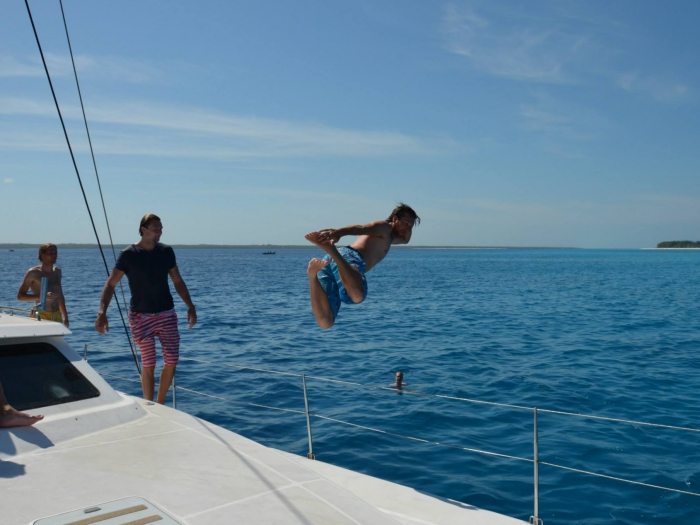 Dive on our day charter yacht excursion to Mnemba Island!