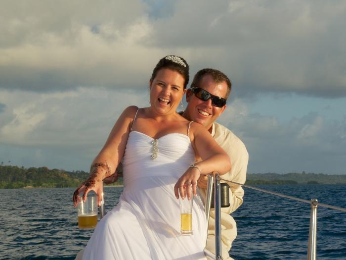 Just Married on a luxury catamaran yacht in Pemba Island, Zanzibar