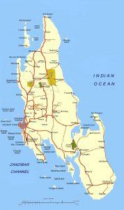 Zanzibar Yacht Holidays Map
