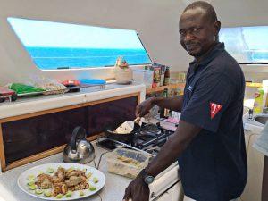 Zanzibar Yacht Charter Catering onboard our catamaran.