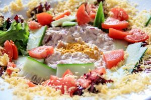 Zanzibar Yacht Charter Catering preparing fresh salads