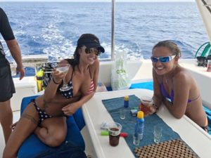 The ladies enjoying our Zanzibar Overnight Yacht Cruise