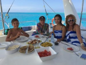 A Family enjoying our Zanzibar Private Yacht Charters.