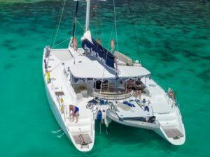 Zanzibar Cruising Yacht on anchor.